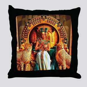 Queen Cleopatra Throw Pillow