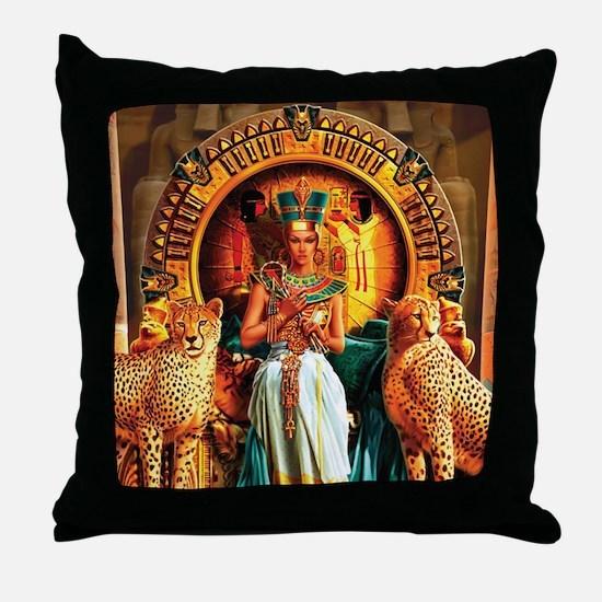 Queen Cleopatra Throw Pillow