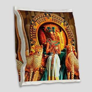 Queen Cleopatra Burlap Throw Pillow