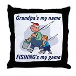 Fishing Grandpa Throw Pillow