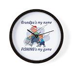 Fishing Grandpa Wall Clock