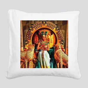 Queen Cleopatra Square Canvas Pillow