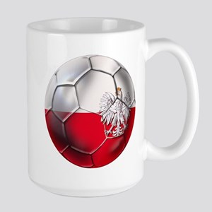Poland Football Large Mug
