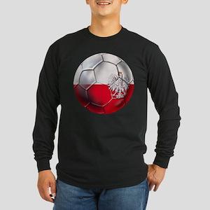 Poland Football Long Sleeve Dark T-Shirt