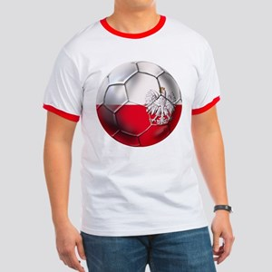 Poland Football Ringer T