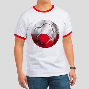 Poland Football Ringer T