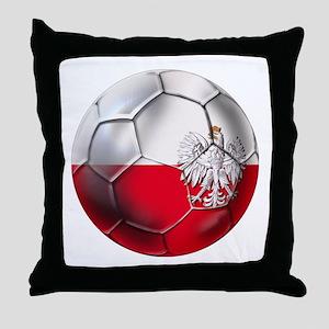 Poland Football Throw Pillow
