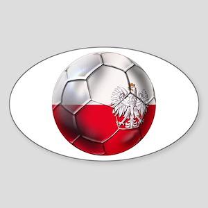 Poland Football Sticker (Oval)