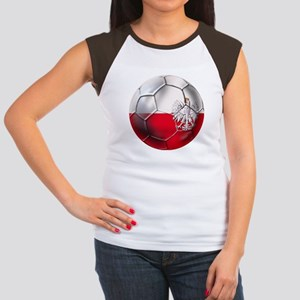 Poland Football Junior's Cap Sleeve T-Shirt