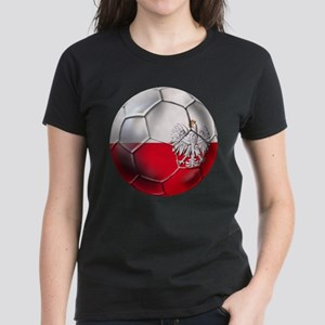 Poland Football Women's Dark T-Shirt