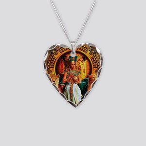 Queen Cleopatra Necklace Heart Charm