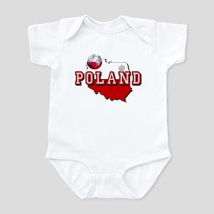 Polish Flag Map Baby Light Bodysuit