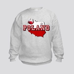Polish Flag Map Kids Sweatshirt