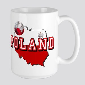 Polish Flag Map 15 oz Ceramic Large Mug