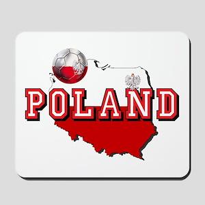 Polish Flag Map Mousepad