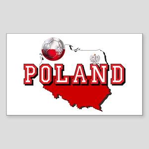 Polish Flag Map Sticker (Rectangle)
