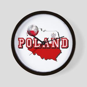 Polish Flag Map Wall Clock