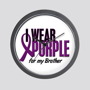 I Wear Purple For My Brother 10 Wall Clock