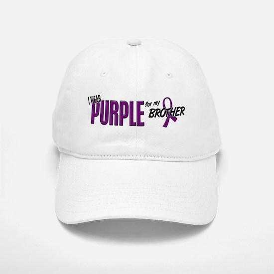I Wear Purple For My Brother 10 Baseball Baseball Cap