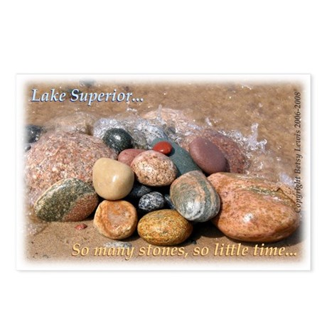 Lake Superior, So Many Stones Postcards (Pkg of 8)
