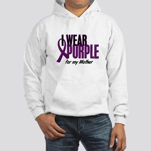 I Wear Purple For My Mother 10 Hooded Sweatshirt