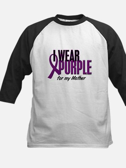 I Wear Purple For My Mother 10 Kids Baseball Jerse