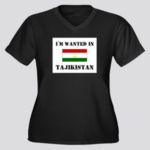 I'm Wanted In Tajikistan Women's Plus Size V-Neck