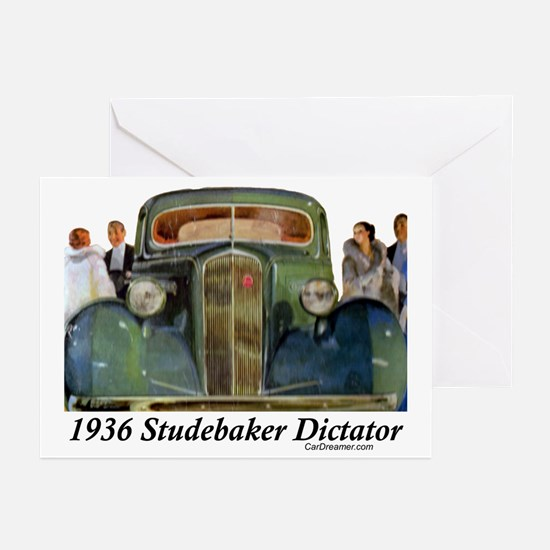 """1936 Studebaker Dictator"" Greeting Cards (Pk of 1"