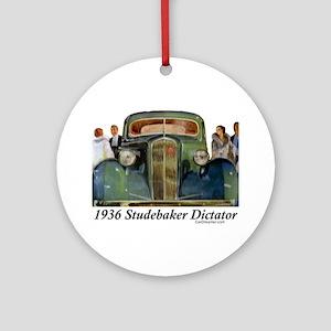 """1936 Studebaker Dictator"" Ornament (Round)"