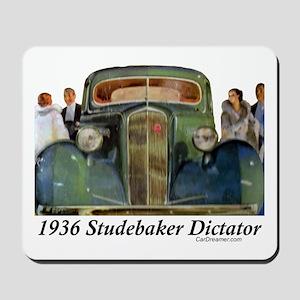 """""""1936 Studebaker Dictator"""" Mousepad"""