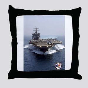 USS Enterprise CVN-65 Throw Pillow