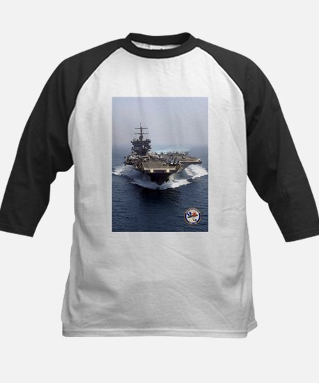 USS Enterprise CVN-65 Kids Baseball Jersey