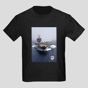 USS Enterprise CVN-65 Kids Dark T-Shirt