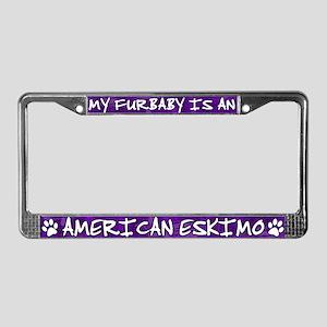 Furbaby American Eskimo License Plate Frame