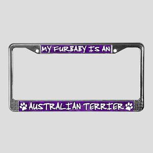 Furbaby Australian Terrier License Plate Frame