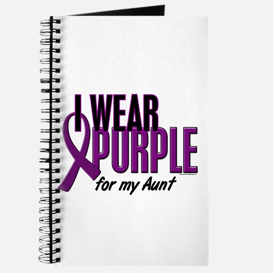 I Wear Purple For My Aunt 10 Journal