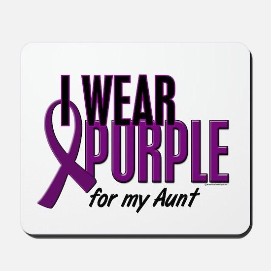 I Wear Purple For My Aunt 10 Mousepad