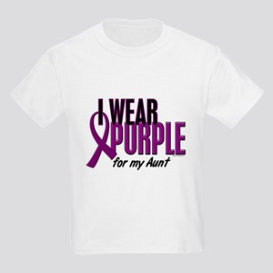 I Wear Purple For My Aunt 10 Kids Light T-Shirt