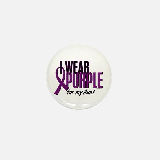 I Wear Purple For My Aunt 10 Mini Button
