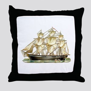 Father's Day Classic Tall Ship Throw Pillow