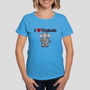 I love Elephants Women's Dark T-Shirt