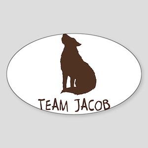 Team Wolf (Jacob) Oval Sticker