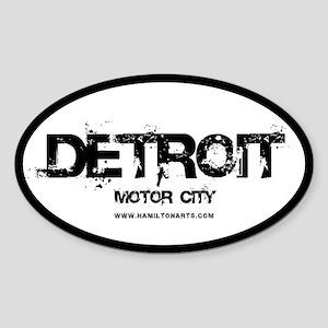 Detroit Motor City Oval Sticker