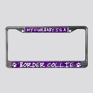 Furbaby Border Collie License Plate Frame