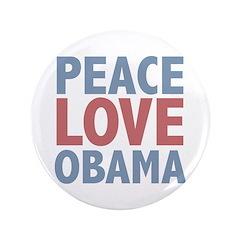 Peace Love Obama President 3.5