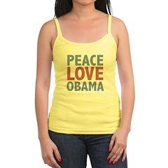 Peace Love Obama President Jr.Spaghetti Strap