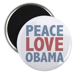"Peace Love Obama President 2.25"" Magnet (100 pack)"