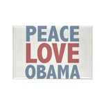 Peace Love Obama President Rectangle Magnet (10 pa