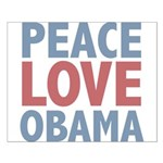 Peace Love Obama President Small Poster