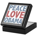 Peace Love Obama President Keepsake Box